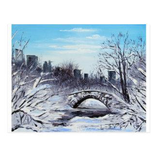 New York Art, Central Park, Landscape Postcard