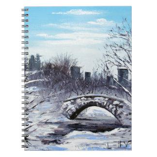 New York Art, Central Park, Landscape Spiral Notebook