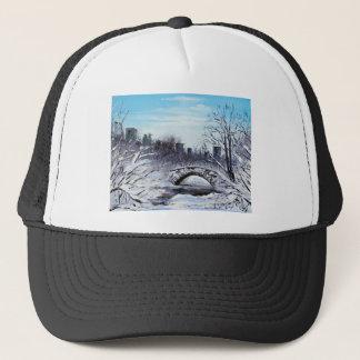 New York Art, Central Park, Landscape Trucker Hat