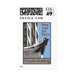 New York Art Deco - Chrysler Building Eagle Postage Stamp