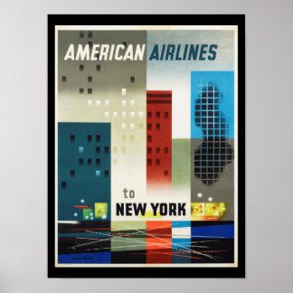 New York Art Deco Vintage Poster