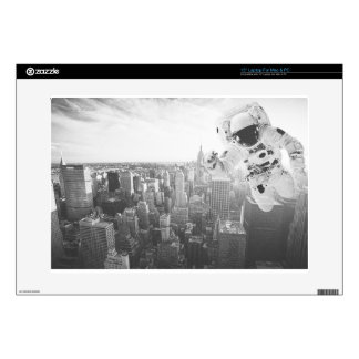 new york astronaut bw decals for laptops
