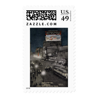 New York at Night in 1910 Stamp