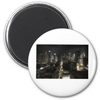 New York At Night 2 Inch Round Magnet