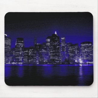 New York At Night Mouse Pad