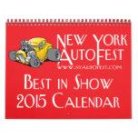 New York AutoFest Best in Show 2015 Calendar