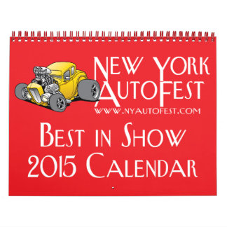 New York AutoFest Best in Show 2015 Calendar