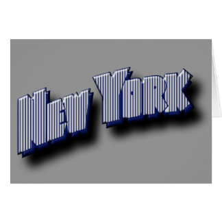 New York Banner Text Card