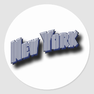 New York Banner Text Sticker