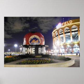 New York Baseball Apple Poster