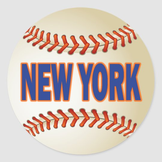 NEW YORK BASEBALL CLASSIC ROUND STICKER
