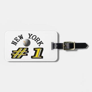 New York Baseball Number 1 Luggage Tag
