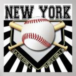 NEW YORK BASEBALL POSTER PRINT