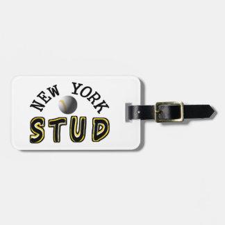 New York Baseball Stud Bag Tag