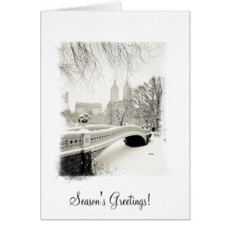 New York Beautiful Snow - Season's Greetings Card
