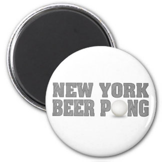 New York Beer Pong 2 Inch Round Magnet