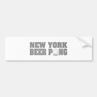 New York Beer Pong Bumper Sticker