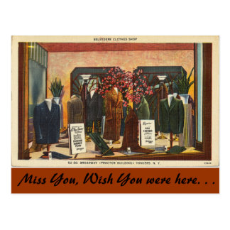 New York, Belvedere Clothes Shop, Yonkers Postcard