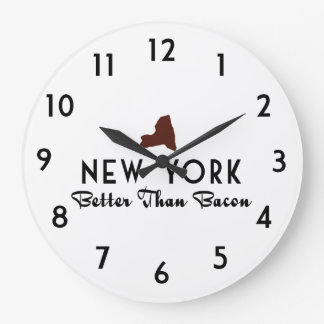 New York Better Than Bacon Large Clock