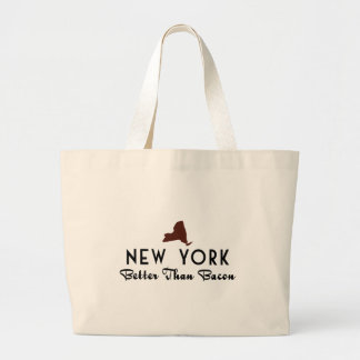 New York Better Than Bacon Large Tote Bag