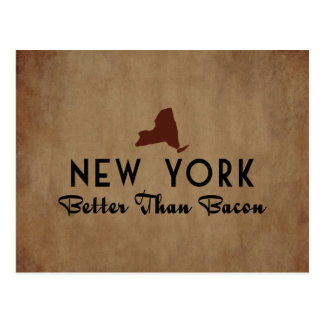 New York Better Than Bacon Postcard
