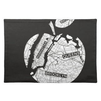 New York big apple with city map Cloth Placemat