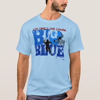 New York Big Blue 4th Champs Football T-Shirt