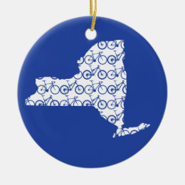 New York Bike Ceramic Ornament