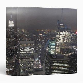 New York Binder Skyline Cityscape at Night Book