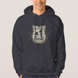 Men's Basic Hooded Sweatshirt with New York Birder design