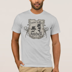 Men's Basic American Apparel T-Shirt with New York Birder design