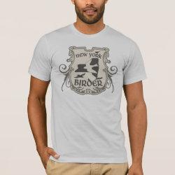 Men's Basic American Apparel T-Shirt with New York Birder design
