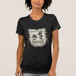 Women's American Apparel Fine Jersey Short Sleeve T-Shirt with New York Birder design