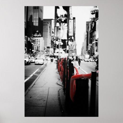 New York Black and White Photo Poster