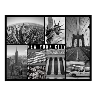 sumners new york black and white postcard