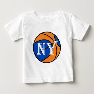 new york blue orange basketball baby T-Shirt