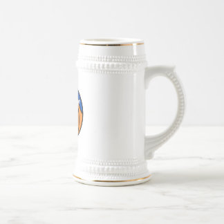 new york blue orange basketball beer stein
