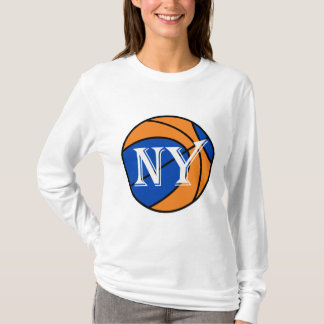 new york blue orange basketball T-Shirt