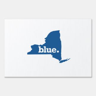 NEW YORK BLUE STATE LAWN SIGN