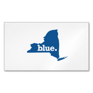 NEW YORK BLUE STATE MAGNETIC BUSINESS CARD