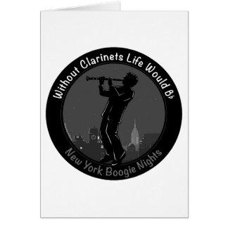 New York Boogie Nights Clarinet Greeting Card