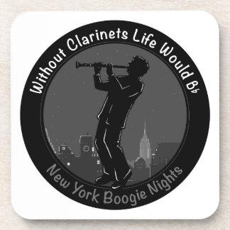 New York Boogie Nights Clarinet Drink Coaster