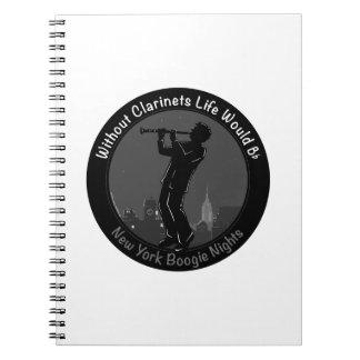 New York Boogie Nights Clarinet Spiral Notebooks