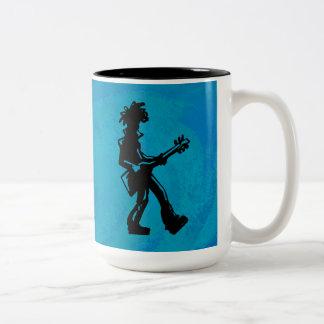 New York Boogie Nights Guitar Blue Two-Tone Coffee Mug
