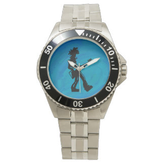 New York Boogie Nights Guitar Blue Wristwatch
