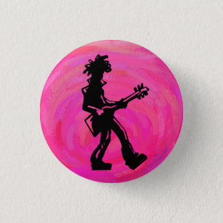New York Boogie Nights Guitar Hot Pink Button