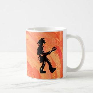 New York Boogie Nights Guitar Orange Coffee Mug