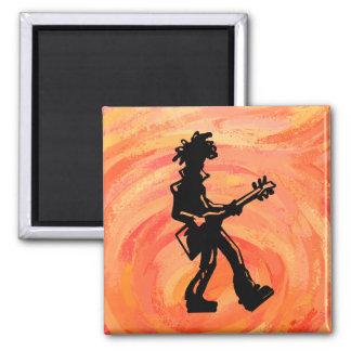 New York Boogie Nights Guitar Orange Magnet