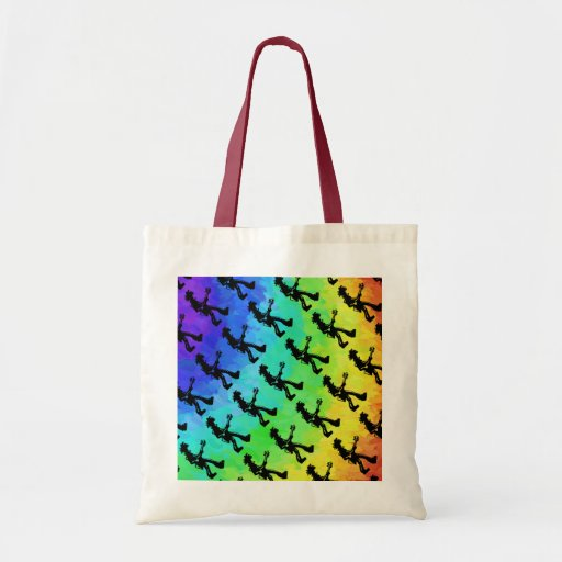 New York Boogie Nights Guitar Rainbow Budget Tote Bag