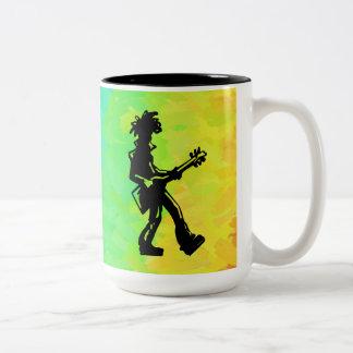 New York Boogie Nights Guitar Rainbow Two-Tone Coffee Mug
